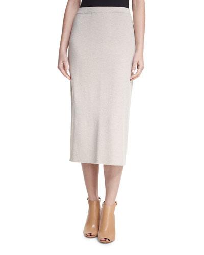 Washable Wool Crepe Pencil Skirt, Petite
