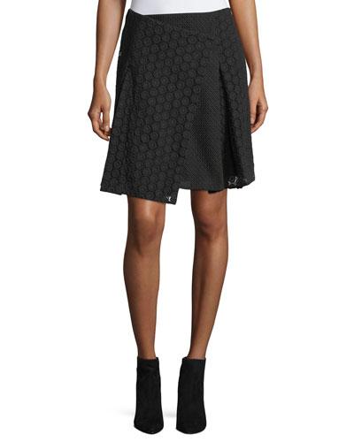 Howe Mixed Lace Kilt Skirt