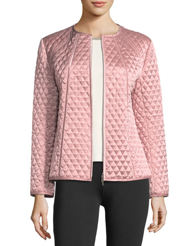 Quilted Satin Zip Jacket