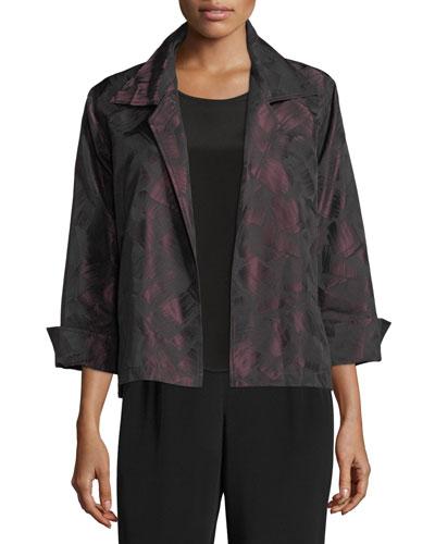 Brushstroke Jacquard Gala Jacket, Plus Size