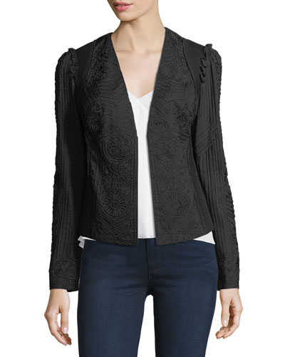 Corrine Embroidered Open Jacket