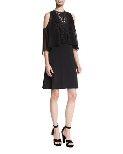 Malia Cold-Shoulder Popover Dress