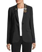Anabella Embellished Blazer Jacket