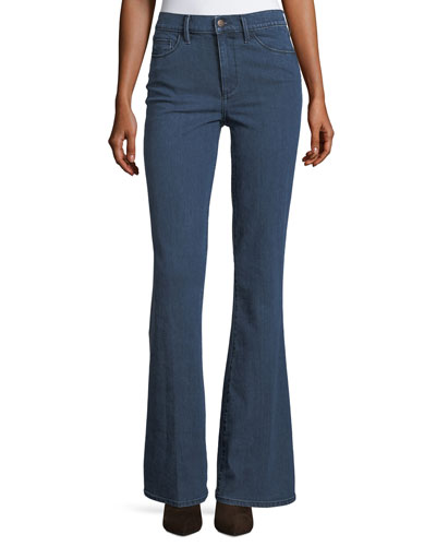 Mid-Rise Flare-Leg Jeans