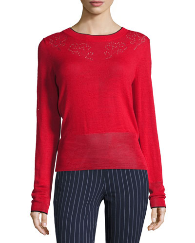 Adriana Pointelle Sweater