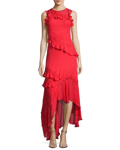 Quick Look. Sachin & Babi · Lake Sleeveless Silk Georgette Ruffle Gown