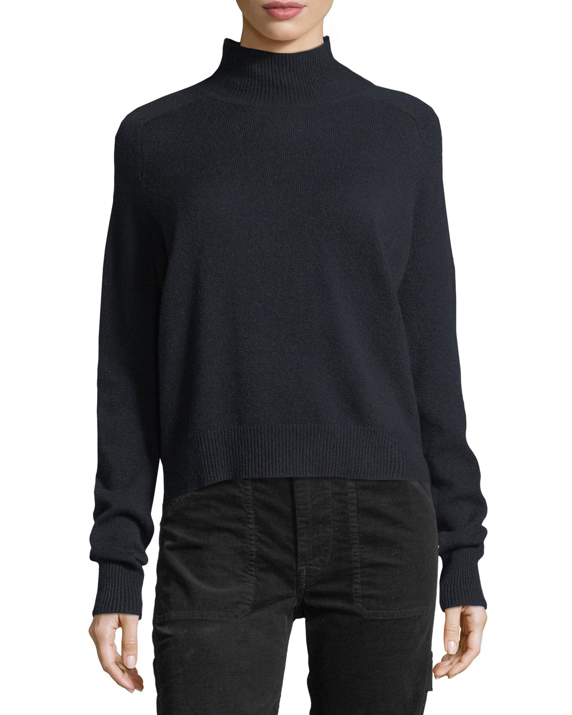 Saddle Cashmere Turtleneck Sweater