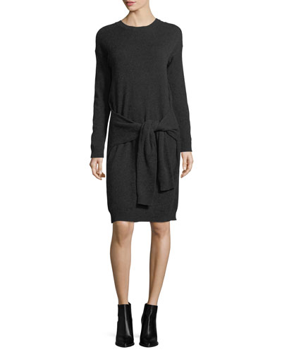 Vince Long - Sleeve Tie - Waist Sweater Dress