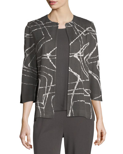 Spiderweb 3/4-Sleeve Jacket