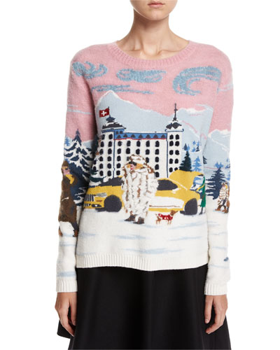 Maglione Winter-Town Long-Sleeve Wool Sweater