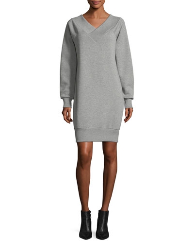 Taro Fleece V-Neck Dress
