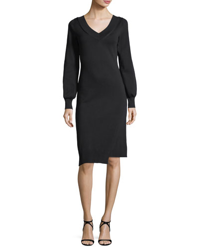 Marro Asymmetric Knit Dress