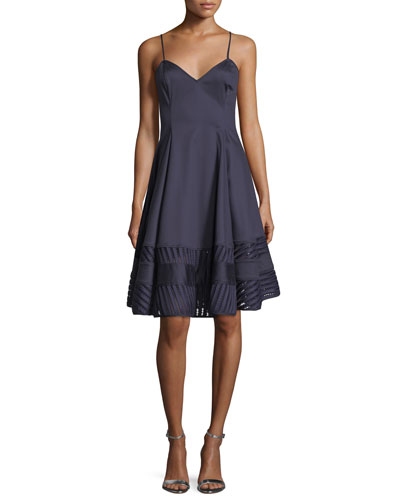 Fia Sleeveless Satin Cocktail Dress