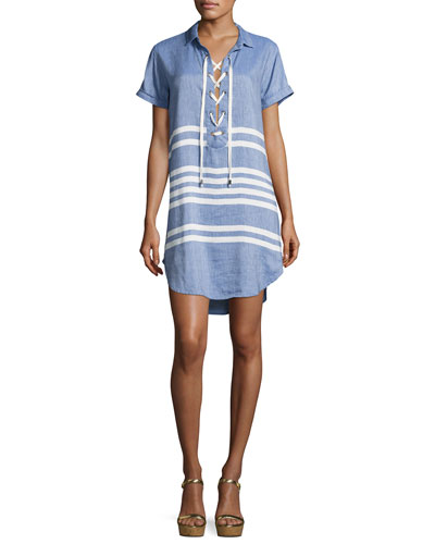 Rocky Striped Linen Dress