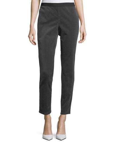 Slim Stretch-Corduroy Leggings, Plus Size