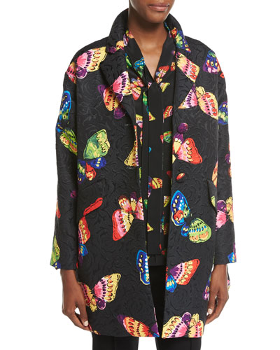 Butterfly Jacquard Topper Jacket
