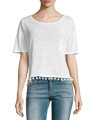Billie Pompom Short-Sleeve Tee