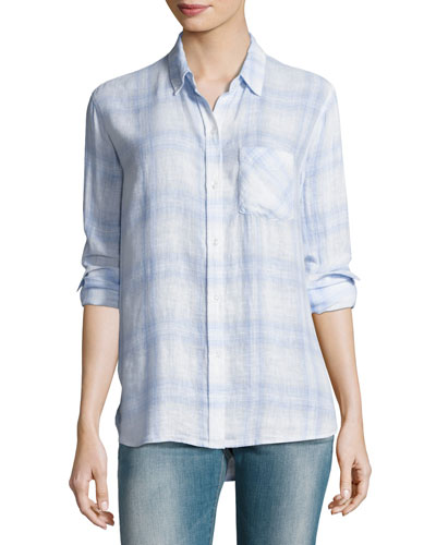 Charli Plaid Button-Front Shirt