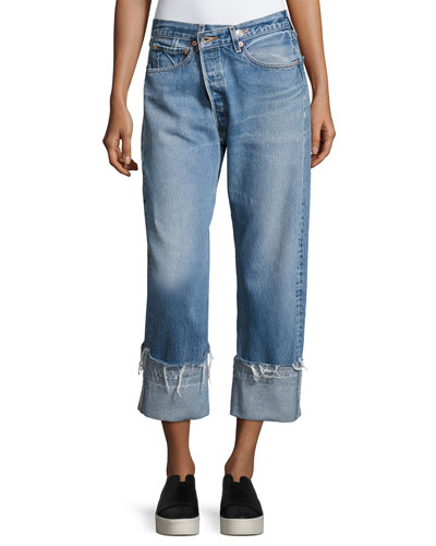Vintage Safety Pin Boyfriend Jeans