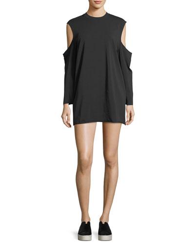 Cutaway Long-Sleeve T-Shirt Dress