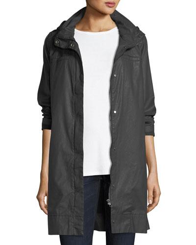 Waxed Cotton Hooded Jacket