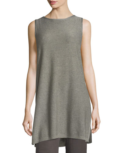 Sleek Tencel®-Merino Sleeveless Tunic, Plus Size