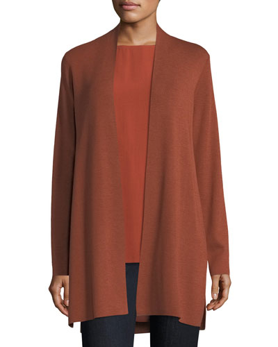 Ultrafine Merino Straight Long Cardigan, Petite