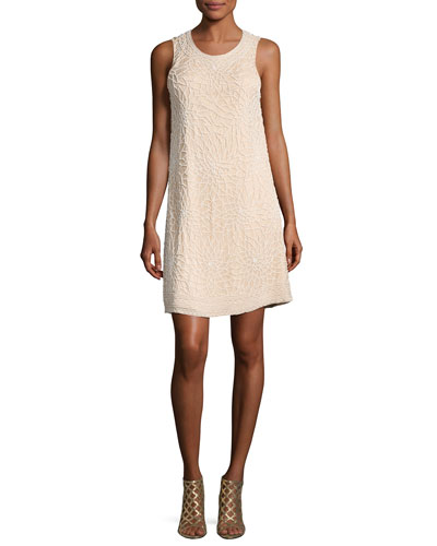 Allegra Beaded Sleeveless Cocktail Dress
