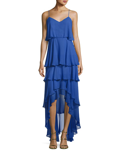 Francine Tiered Ruffled Chiffon Dress