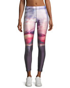Breaking Waves 7/8 Performance Leggings