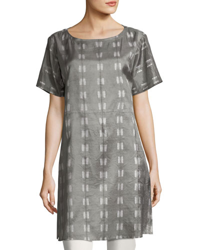 Natural Dyed Shibori Long Tunic
