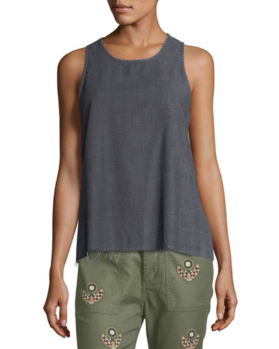 The Bias Denim Tank