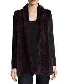 Luxury Cashmere Cardigan w/ Rabbit Fur Front