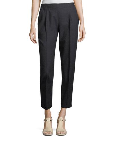 Lightweight Wool Pleated Pants