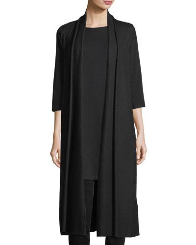 Long Boiled Wool Jersey Vest, Petite