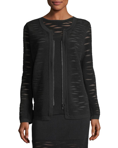 Aurora Textured Zip-Front Jacket