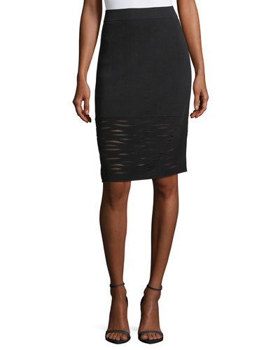 Aurora Textured Pencil Skirt