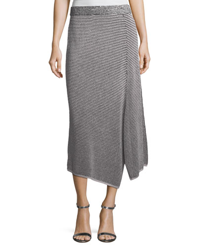 Frosted Fall Asymmetric Skirt