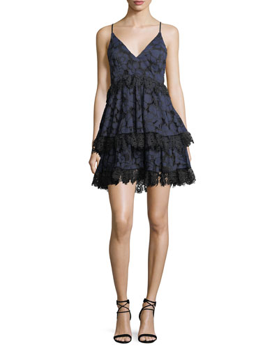 Tiered Lace Babydoll Dress