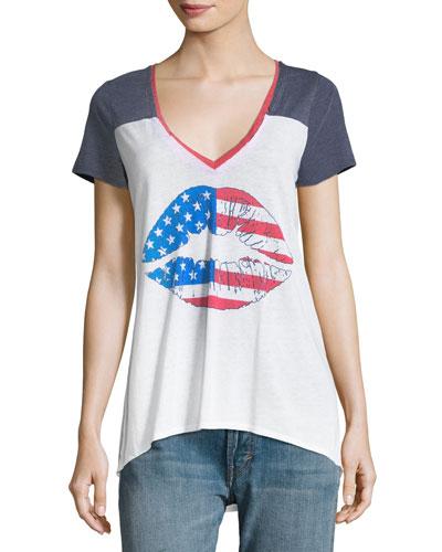 American Kiss Jersey Tee