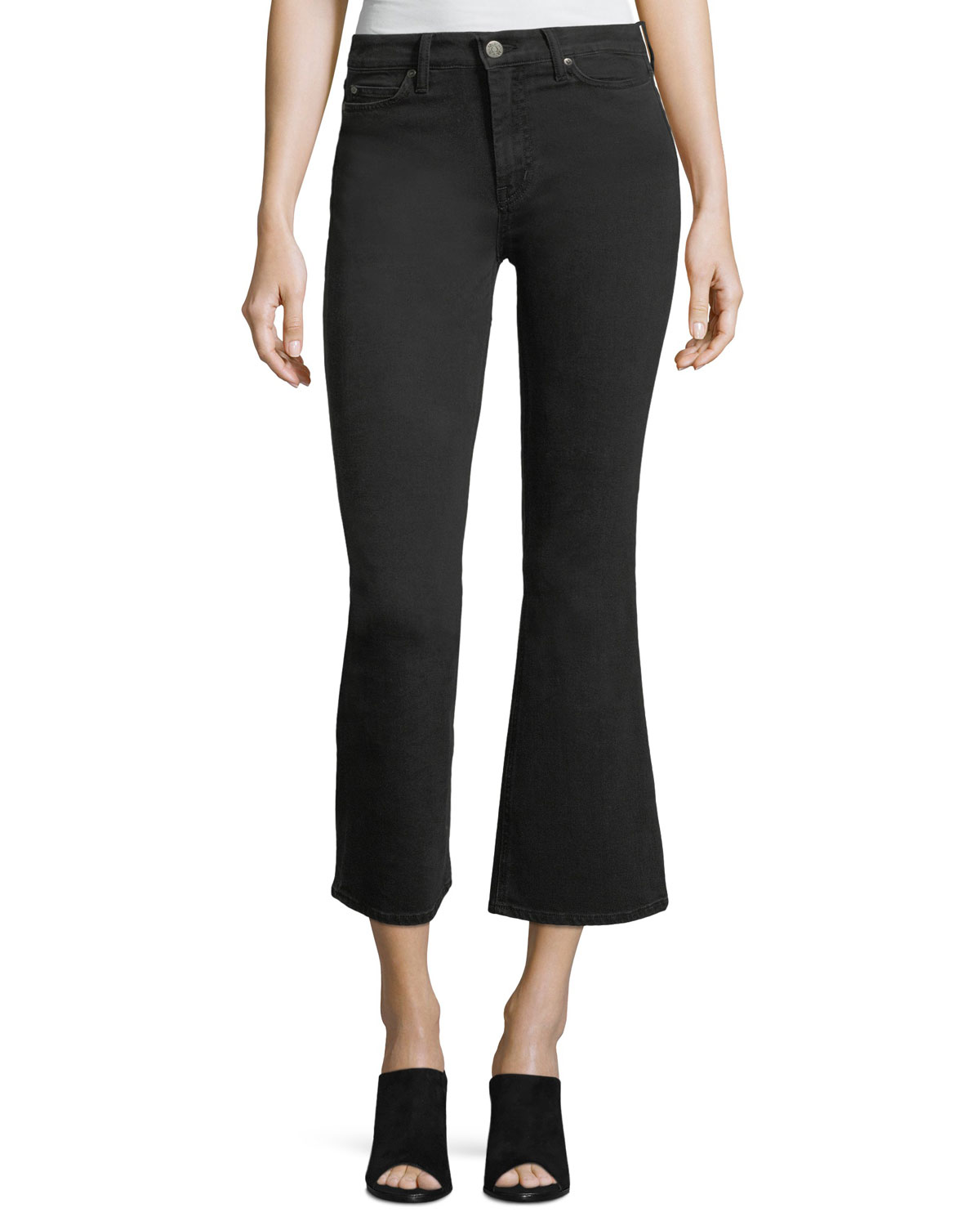 Marty Mid-Rise Flared Crop Jeans