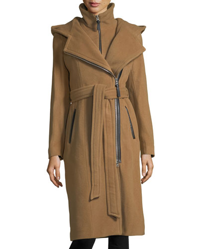 Janya Tailored Hooded Coat w/ Removable Bib