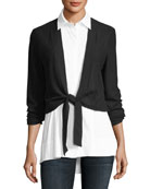 Bella Shirting & Cardigan Combo Top