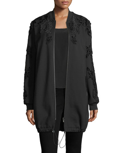Gerri Knit Coat w/ Velvet Appliqué
