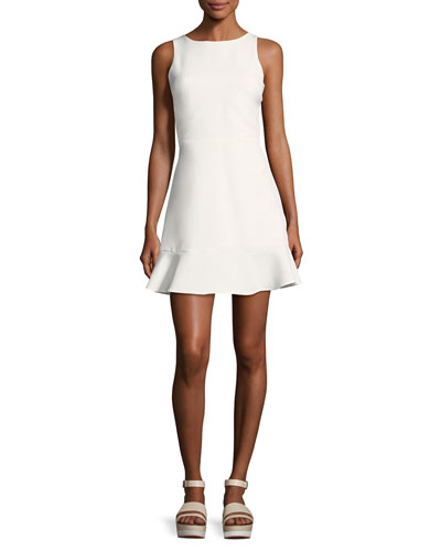 Tiffani Sleeveless A-Line Ponte Mini Dress