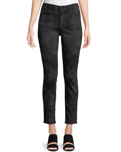 Valencia Lasered Skinny Ankle Jeans