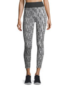 Playoff Textured Ankle-Length Performance Leggings