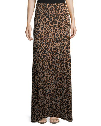 Animal-Print Long Full Convertible Skirt