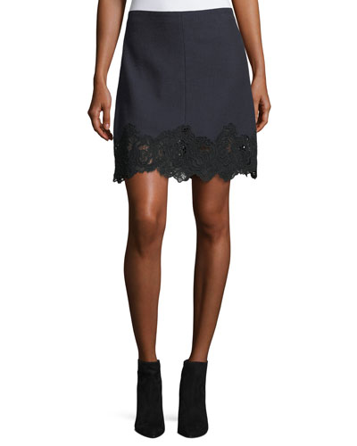 DS Slub Lace Skirt