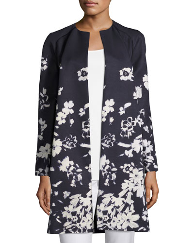 Makeda Augusto Impression Open-Front Topper Jacket, Plus Size
